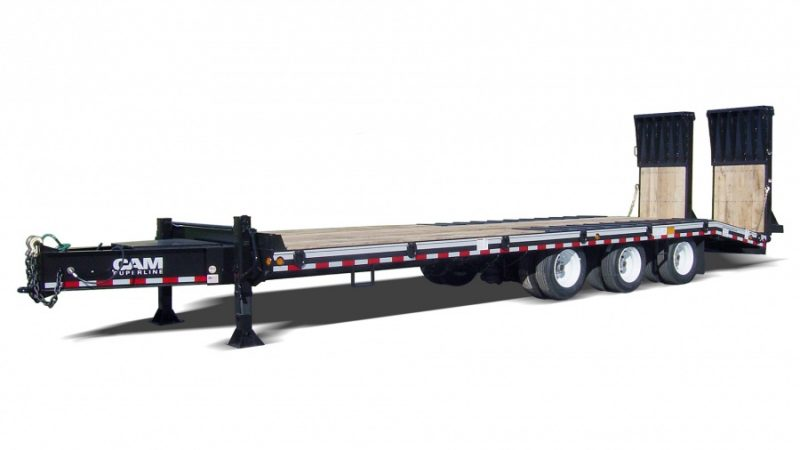 Aluminum Folding Ramps >> 20 & 25 Ton HD Deckover Trailers | Burkholder Manufacturing