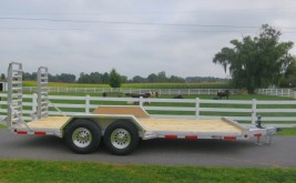Burkholder Aluminum Equipment Trailer