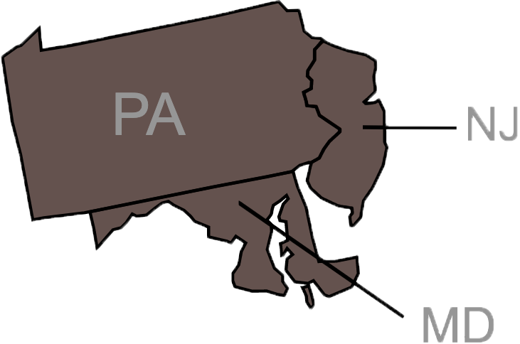 Map of Burkholder Trailer service area.